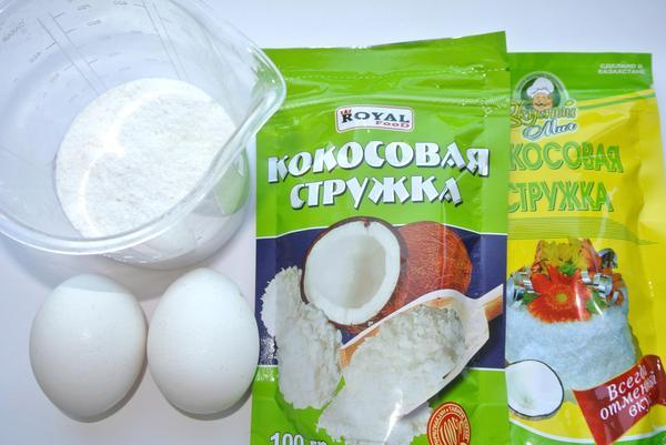 Печенье кокосанки – ингредиенты