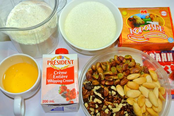 Ингредиенты для песочного тарта