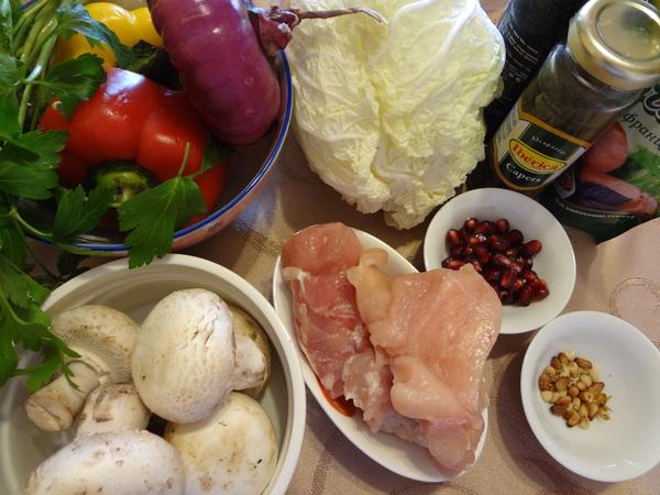 Салат с курицей и грибами – ингредиенты