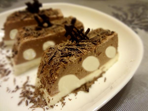 Творожно-шоколадный десерт