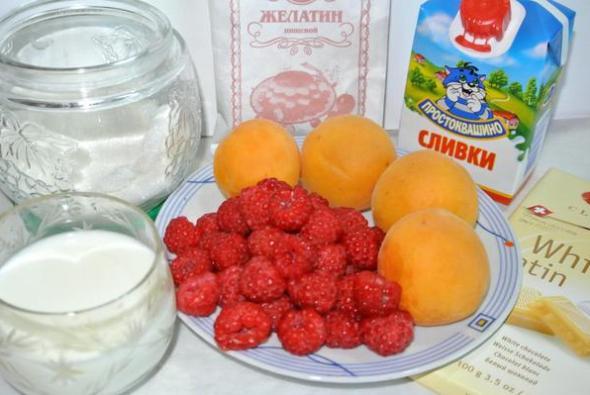 Малиново-абрикосовое желе – ингредиенты