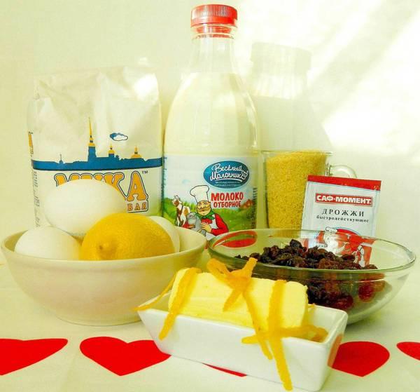 Ингредиенты для итальянских булочек