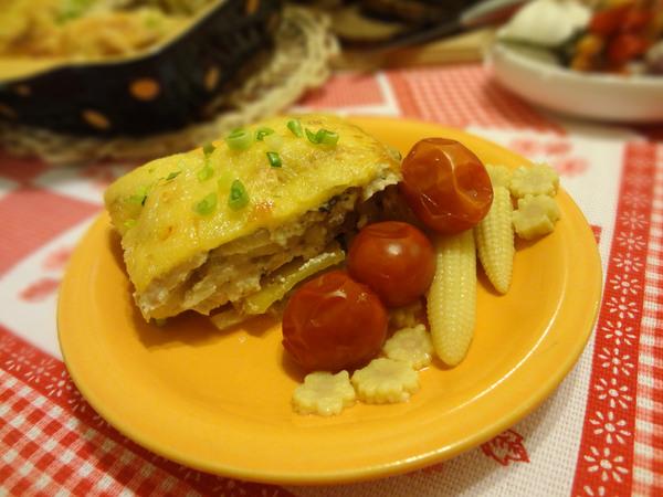 Картофельная запеканка с курицей, или гратен, - итоговое фото в пошаговом рецепте