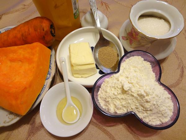 Пирожки с тыквой - фото ингредиентов