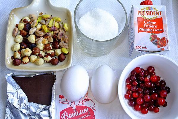 Ингредиенты для приготовления семифредо