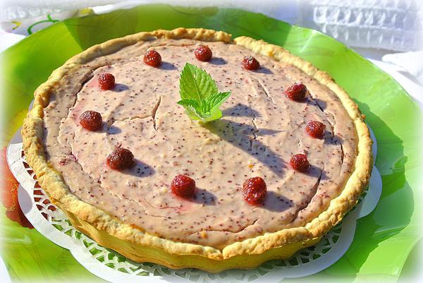 Тарт - открытый пирог с земляникой и творогом