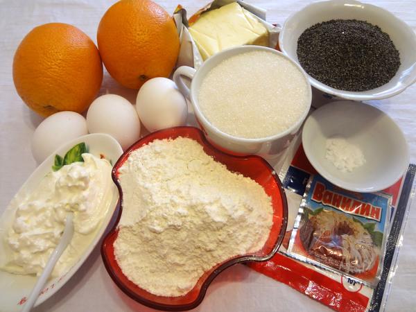Маковый кекс - ингредиенты