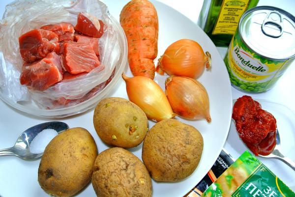 Жаркое из баранины - ингредиенты