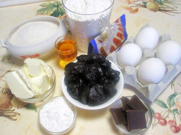 Торт с черносливом и безе - ингредиенты
