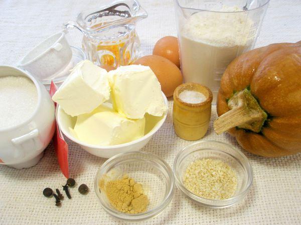 Ингредиенты для кекса с тыквой