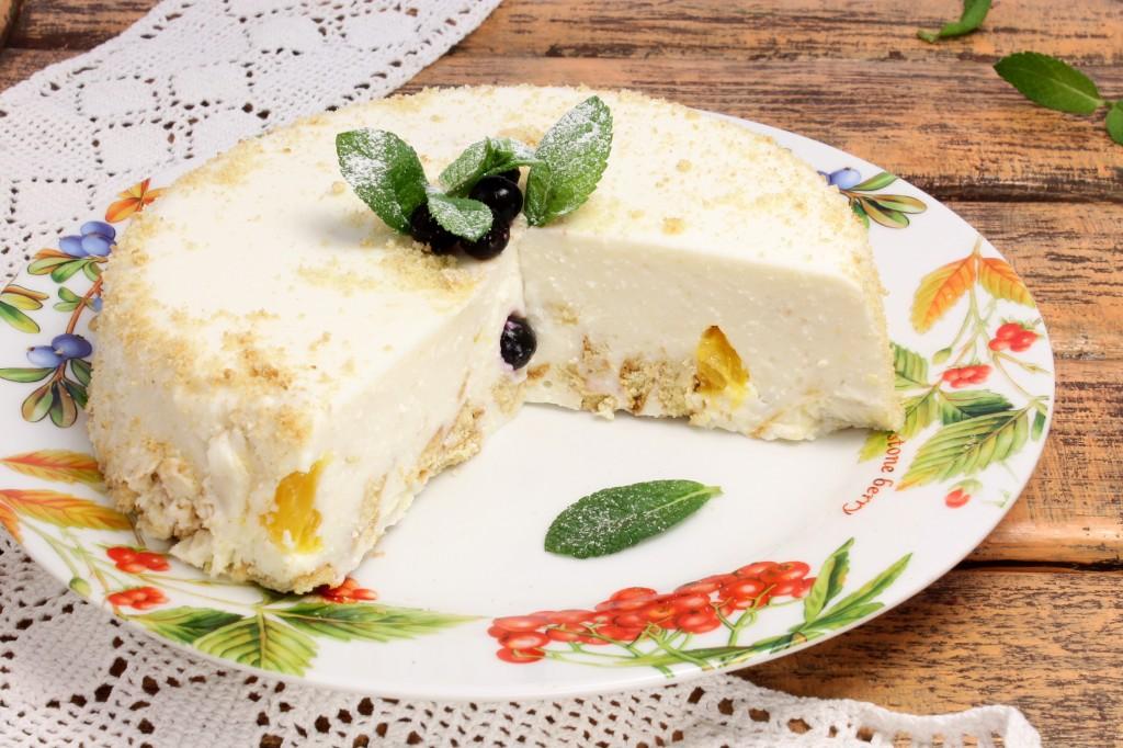 Творожные торты с фруктами рецепты