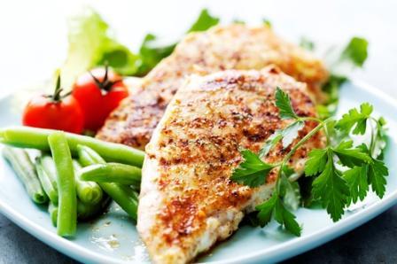 Куриное филе с овощами - лучшая еда на завтрак