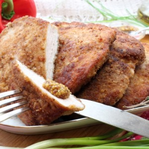 Свиное мясо в панировочных сухарях