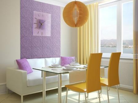 Декорирование гипсовыми 3D панелями столовой