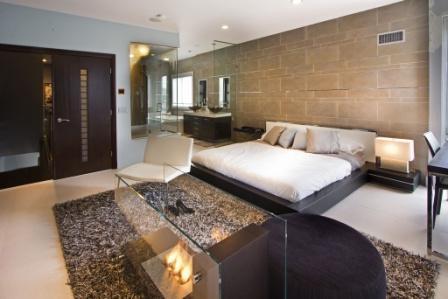 Настенная плитка в спальне