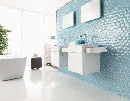 Керамическая плитка в форме пчелиных сот для стен в ванной