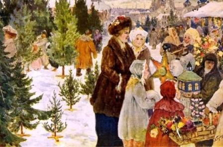 Александр Бучкури. Рождественский база, 1906 г.