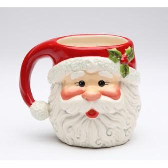 Чашка в виде головы Деда Мороза