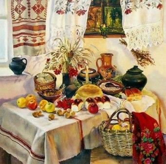 Картина художницы Надежды Полуян-Внуковой Рождественский вечер