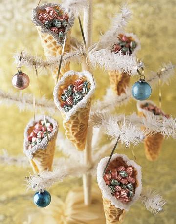 Украшения на елку из сладостей