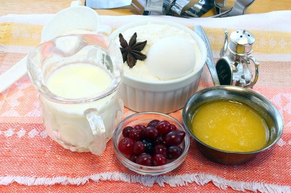 Продукты для приготовления печенья на молоке