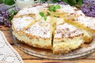 Бисквитный торт на молоке