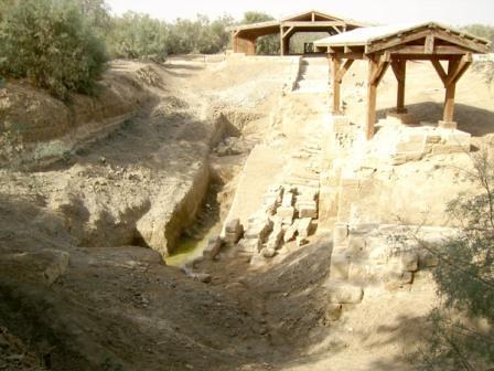 Река с месте крещения Иисуса уже высохдла