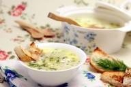 Сырный суп с кольраби