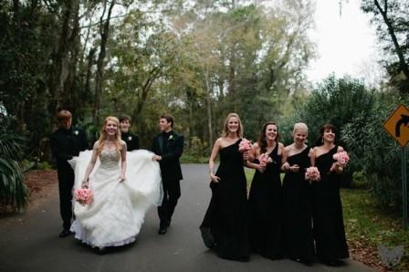 Элегантная черно-белая свадьба