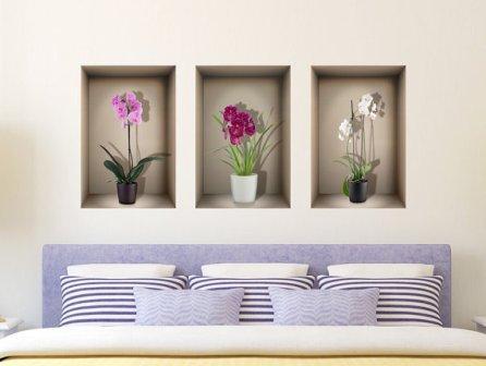 Ниша для цветов в спальне