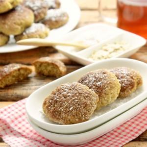 Печенье из овсяной муки с кокосовой стружкой