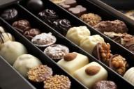 Шоколадные конфеты в коробке