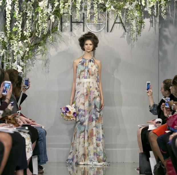 Платье в растительным принтом для невесты