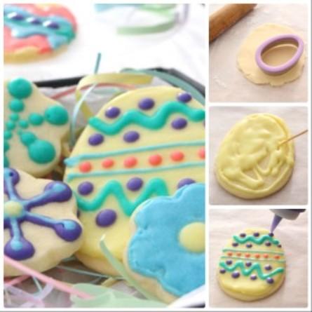 Пошаговое фото пасхального печенья с глазурью