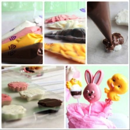 Пасхальные кейк-попсы (печенье на палочках)