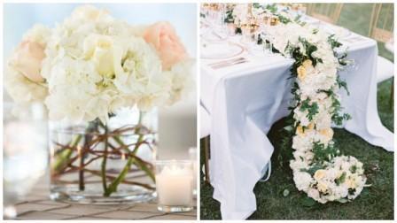 Оформление свадебного стола розами