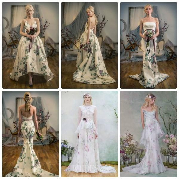 Свадебные платья Elizabeth Fillmore с цветами фото