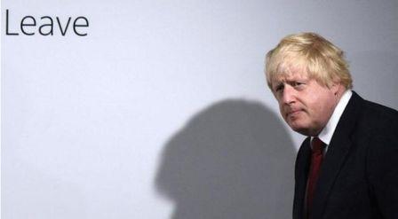 Инициатор Brexit Борис Джонсон ? кажется, сегодня выглядит не очень уверенно