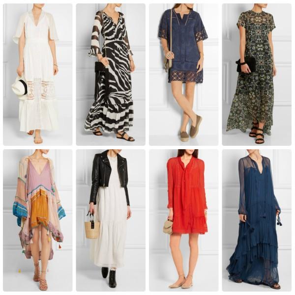 Модные летние платья 2016 в стиле бохо