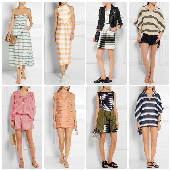 Модные летние платья 2016 в полоску горизонтальную и вертикальную
