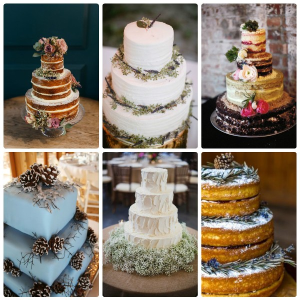 Свадебные торты в деревенском стиле