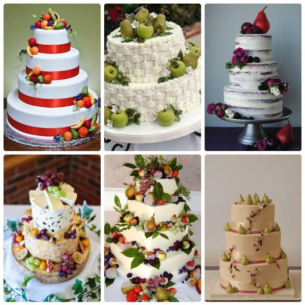 Торты фруктовые с ягодами