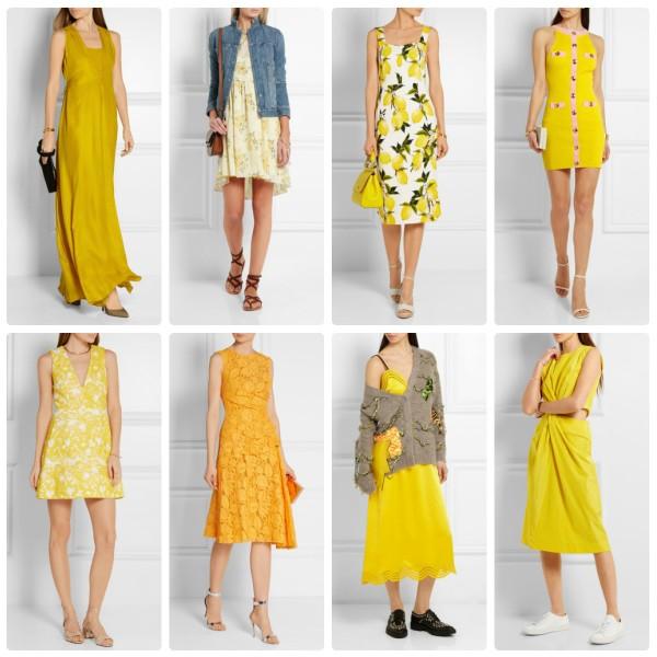 Модные летние платья желтого цвета