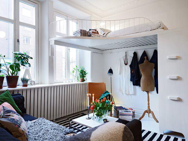 Второй уровень в комнате для спального места