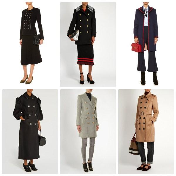 Модный тренд пальто в стиле милитари