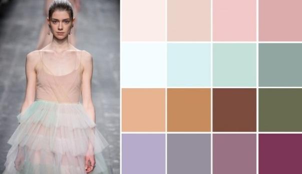 Модный пудровый цвет