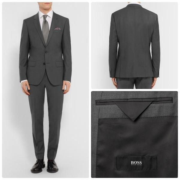 Мужской серый деловой костюм