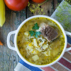 Суп из консервов скумбрии