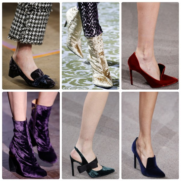 Модная обувь 2016-2017 бархатная
