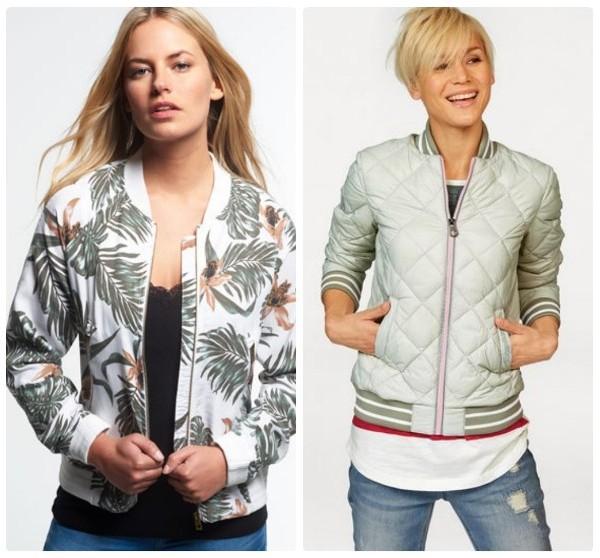 Две женские куртки-бомберы